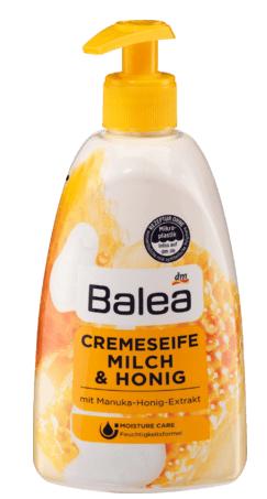 Balea krēmveida ziepes ar piena un medus smaržu, 500 ml