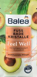 Balea Feel Well kāju vannu kristāli ar avokādo eļļu, 40 g