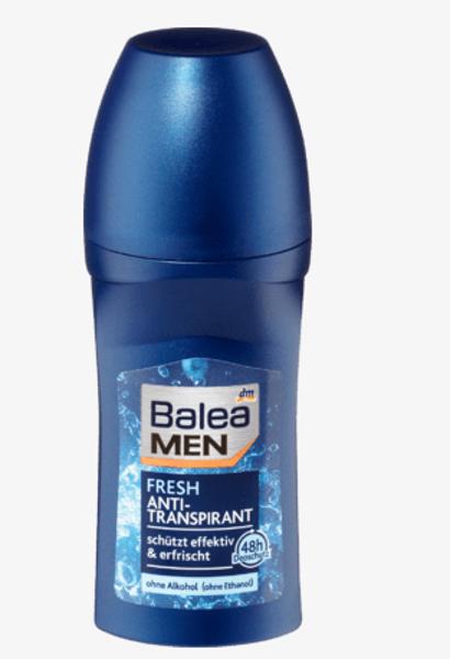 Balea MEN Fresh dezodorants Roll On  50 ml, vegāns