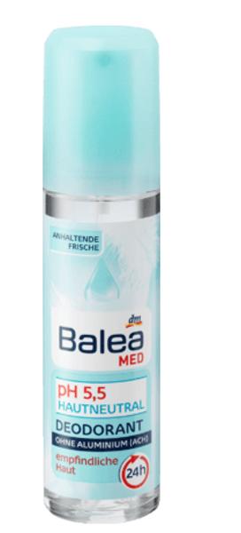 Balea MED dezodorants pH 5,5, neitrāls, 75 ml, vegāns