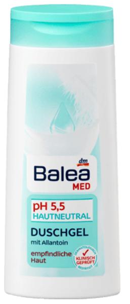 Balea MED ph 5,5 dušas želeja, 300 ml jūtīgai ādai