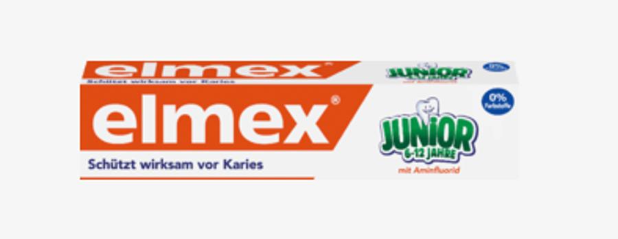 Elmex zobu pasta bērniem vecumā no 6 līdz 12 gadiem, 75 ml, ar fluorīdu