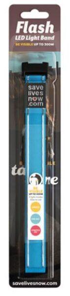 Flash zila atstarojošā LED gaismas aproce, iepakojumā 1.gab