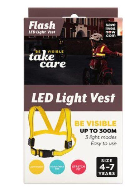 Flash LED drošības veste bērniem 4-7 gadi