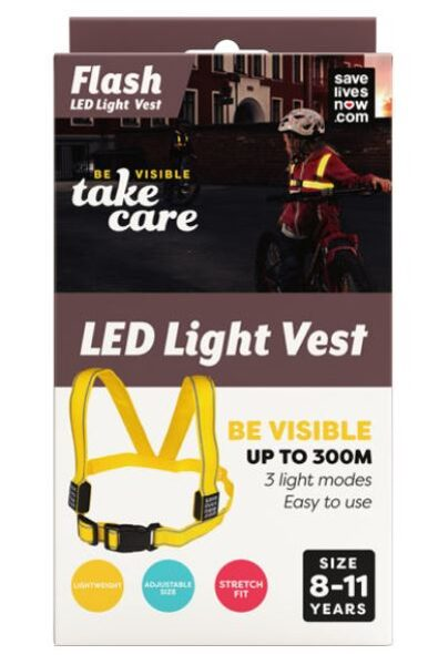 Flash LED veste bērnu 8-11 gadi