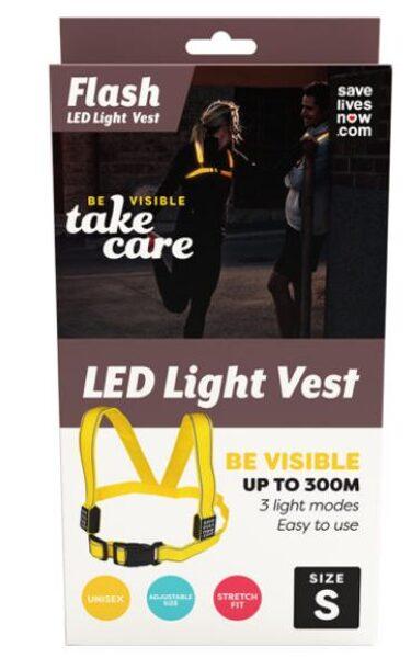 Flash LED veste S izmērs