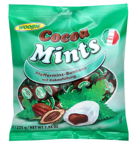 Woogie piparmētru konfektes ar kakao pildījumu 225g