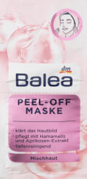 Balea Peel-OFF maska ar burvju lazdu un aprikožu ekstraktu, kombinētai ādai, 2x8 ml